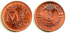 MEDALLA OFICIAL BODAS DE PLATA 1962-1987. CECA DE MADRID