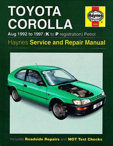 haynes workshop service repair manual toyota corolla ae101 ae102 92 rh ebay com au Toyota Corolla AE100 Slammed toyota corolla ae101 repair manual pdf