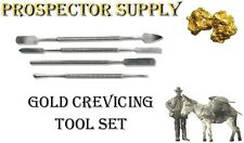 GOLD CREVICING TOOL SET 4PCS- Blue Bowl, Pay Dirt Concentrate, Dredge Sluice Box