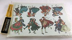 Decoupage Paper Crafts Patricia Nimocks Dancers NIP Prints Transfer Framing