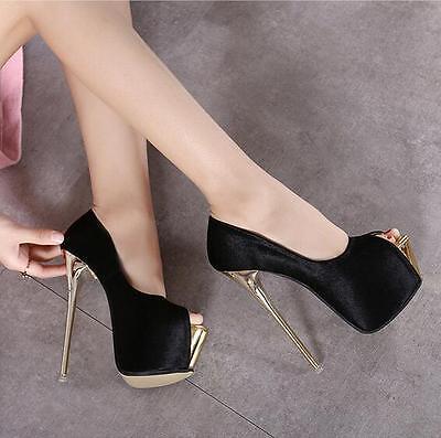 Nightclub sexy super high heels pumps womens platform shoes high stilettos size