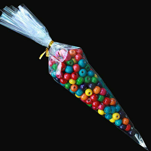 Supplies Plastic Candy Bag Seal Cone Pouch Snack Pocket Transparent Package