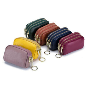Small Coin Purse Leather keychain Leather Coin Purse