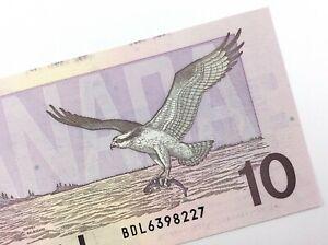 1989-Canada-10-Dollar-Ten-Dollar-Uncirculated-BDL-Bonin-Thiessen-Banknote-R788