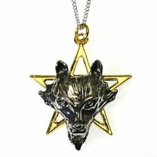 Night of the Wolf Pentagram Star Pendant Necklace Children of the Night CN07