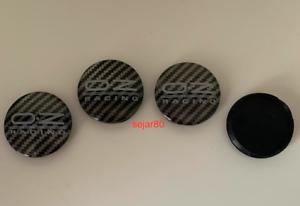 OZ-Racing-Schwarz-Grau-carbon-4-x-55mm-Nabenkappen-Nabendeckel-Satz-M582