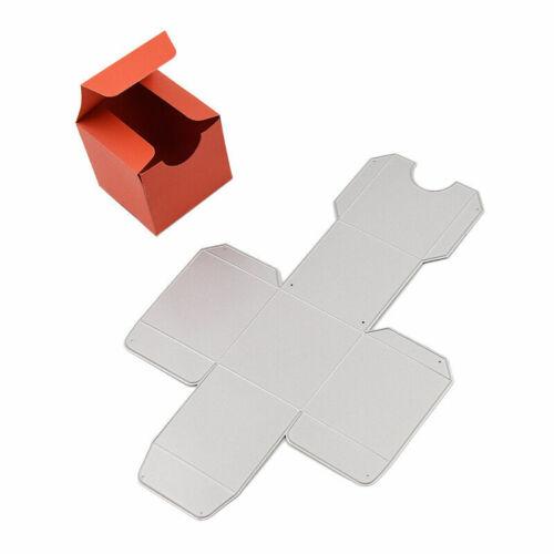 Stanzschablon Geschenk Box Prägeschablone Quadrat Weihnachten Stanzschablonen DE