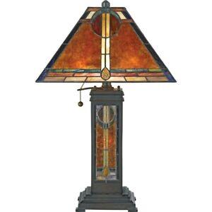 Quoizel 2 Light San Gabriel Table Lamp In Valiant Bronze Nx615tva 611728142011 Ebay