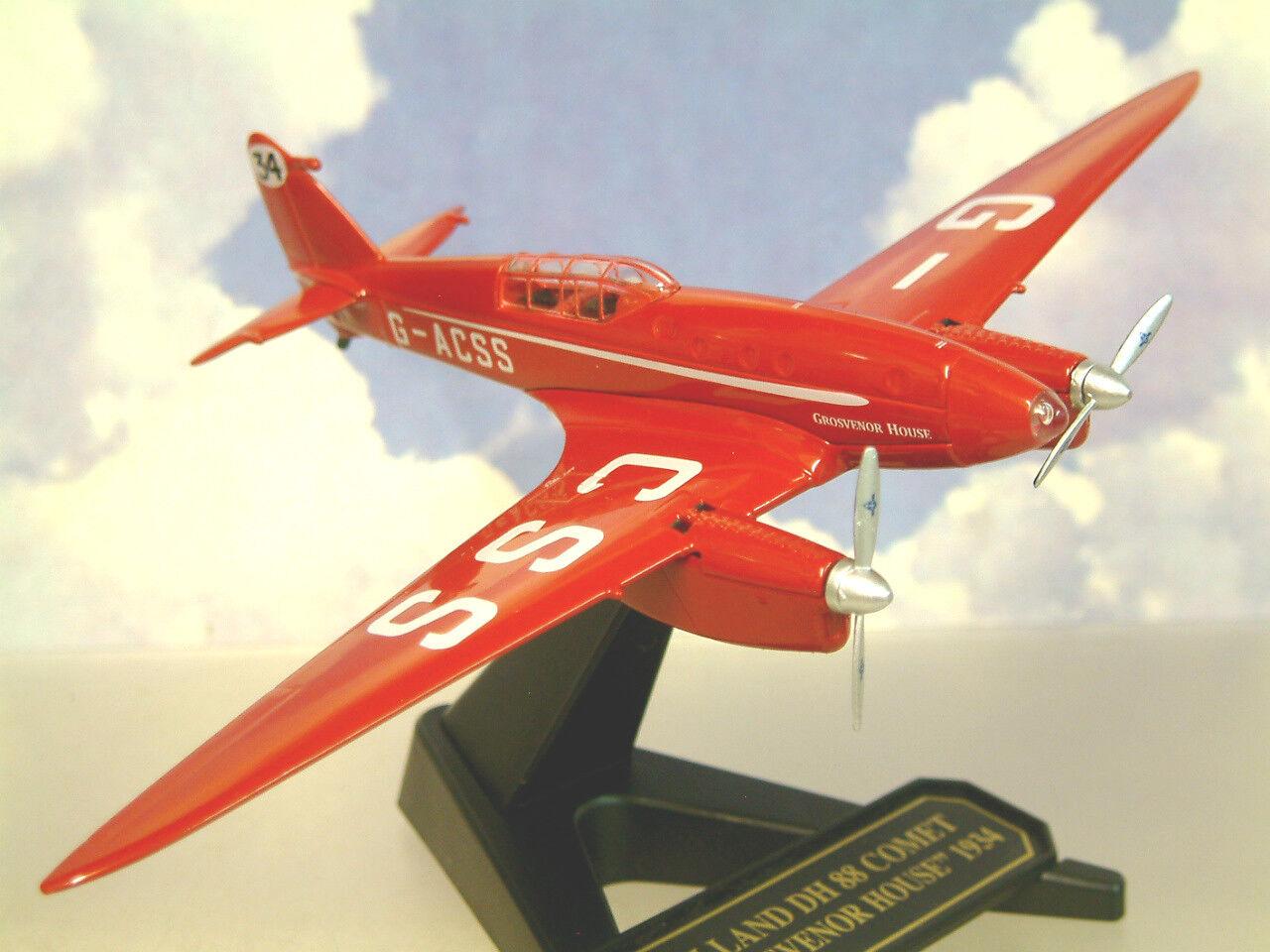 OXFORD 1 72 DeHAVILLAND DH88 COMET G-ACSS GROSVENOR HOUSE 1934 AIR RACE 72COM002