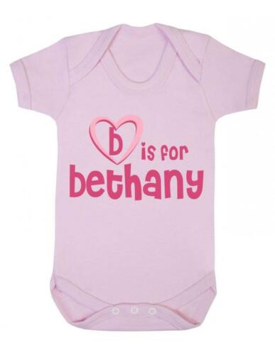 B è per Bethany-Bethany Baby Body//Baby Gilet//Pagliaccetto
