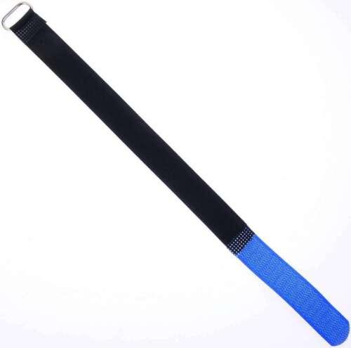 100 Klett Kabelbinder 300 x 20 mm blau Kabelklettband Kabelklett Klettband m Öse