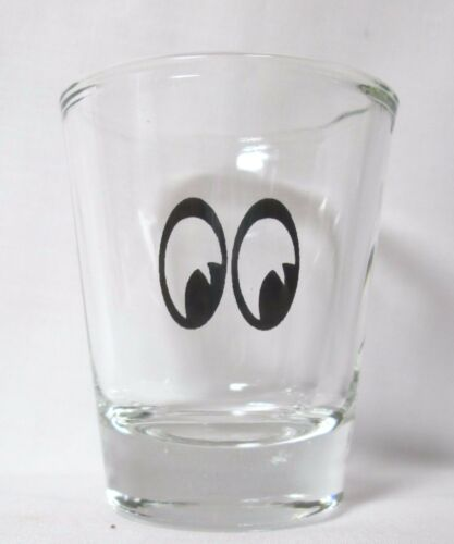 Crazy Eyes Image on Clear Shot Glass