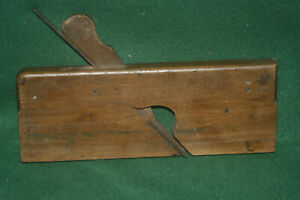 Great-User-Antique-Vintage-3-4-034-Skew-Rabbet-Moulding-Plane-Inv-HB19