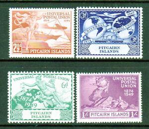 Pitcairn Island SC# 13-16(SG# 13-16)VF-XF MNH, UPU Set Issued in 1949/