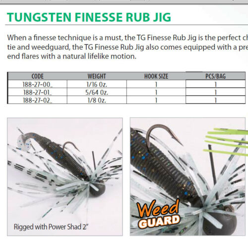 TUNGSTEN FINESS GRUB JIG  1//16 OZ  5 COLOURS FOR ULTRA LIGHT FISHING  SIZE 1