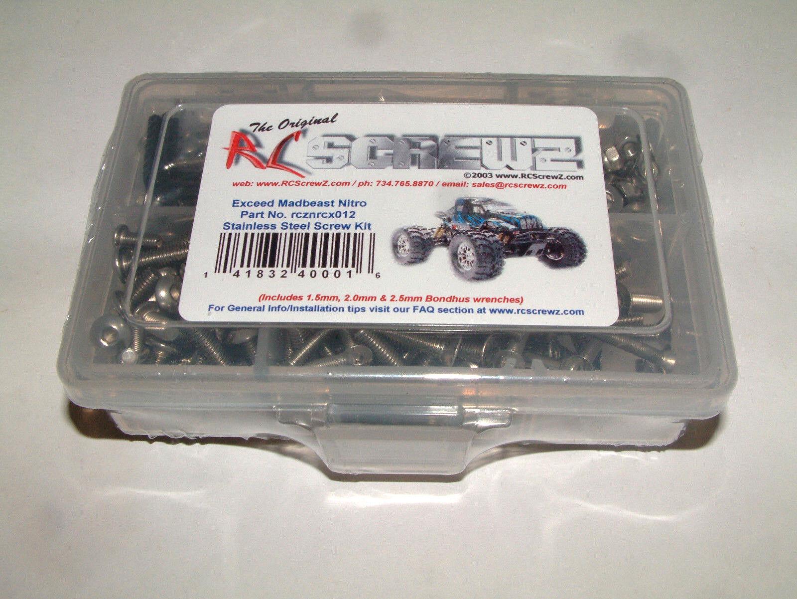 EXCEED MAD BEAST NITRO 1 7TH RC SCREWZ STAINLESS STEEL SCREW SET NRCX012