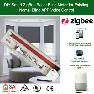 Details about SmartThings Compatible Smart ZigBee Roller Blind Motor Alexa  Google Home Automat
