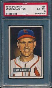 1951-Bowman-Baseball-Enos-Slaughter-58-PSA-6-CARDINALS-EX-MT-HOF