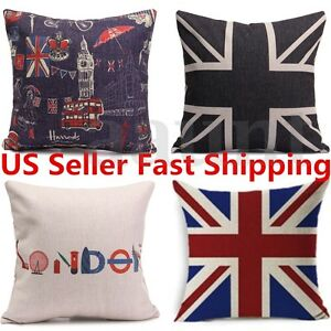 Cotten-Linen-Union-Jack-Printed-Flag-Throw-Pillow-Case-Cushion-Cover-Home-Decor