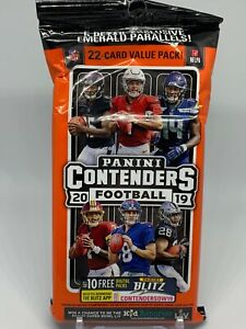 2019-Panini-Contenders-Football-Fat-Hanger-Rack-Pack-22-cards-Factory-Sealed