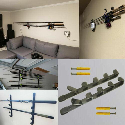 Fishing Rod Rack Pool Cue Holder 5 Items Fish Gear Storage Organiser Holder Hook