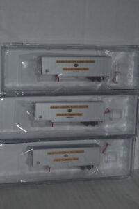 3 Trainworx 40303 C&EI 40' Drop Frame Trailer N scale