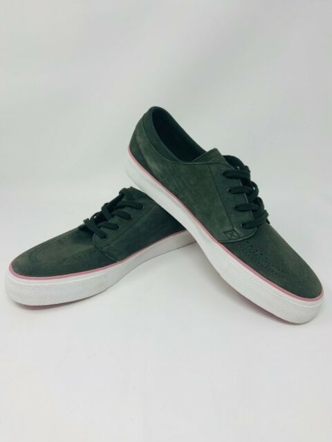 Nike SB Stefan Janoski Zoom Air Sneakers Mens Size 10 Shoes Suede Green Pink
