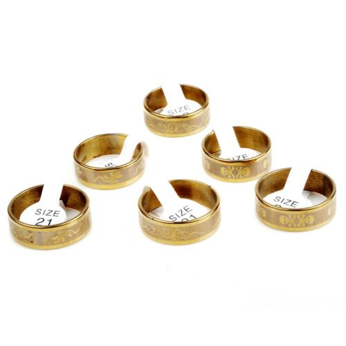 100//50pcs Wholesale Lots Mix Stainless Steel Ring Womens Men/'s Jewelry Gold Band