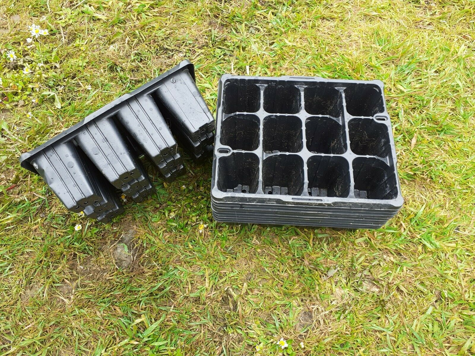 10 Plastic Seed- Cell Potting Trays