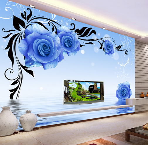 3D Bule Squid 424 Wallpaper Murals Wall Print Wallpaper Mural AJ WALL AU Kyra