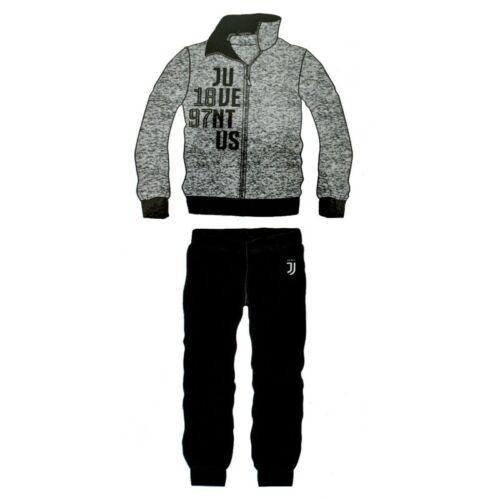 Pigiama tuta uomo FC JUVENTUS 14110 PRODOTTO UFFICIALE cotone full zip grigio