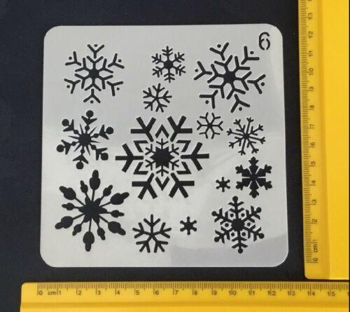 Snowflake Stencil Plastique Réutilisable fenêtre Peinture Craft Décoration Fabrication Carte