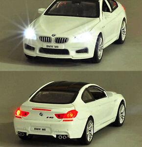 1-32-BMW-M6-Alloy-Diecast-Vehicle-Car-Model-Toy-Collecion-Sound-amp-Light-White