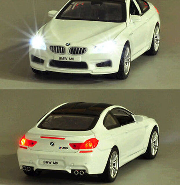 1 32 Bmw M6 Alloy Cast Vehicle Car Model Toy Collecion Sound Light White