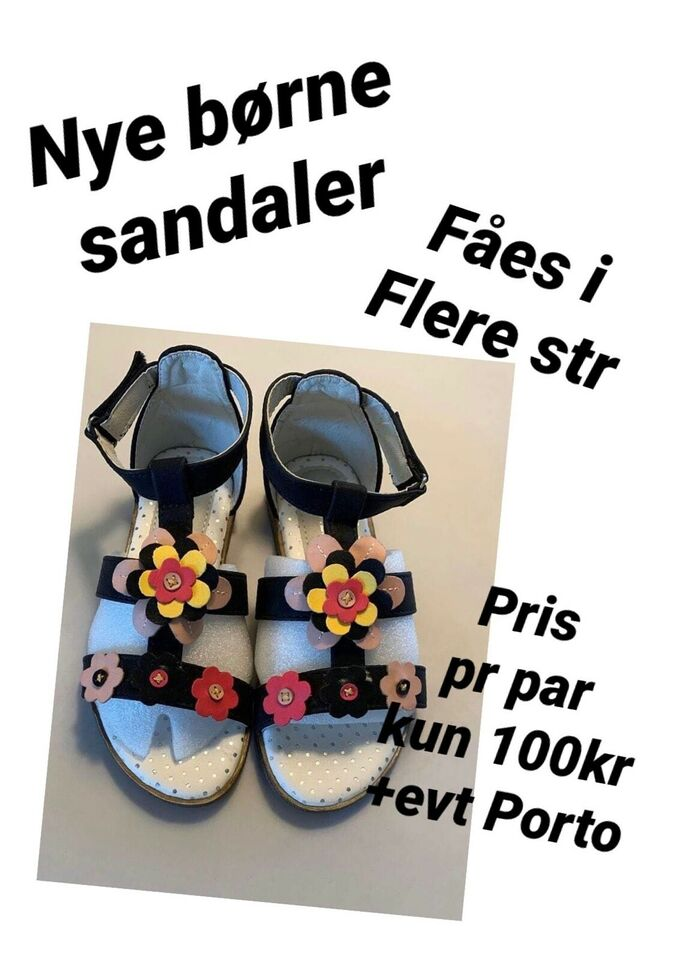 Sandaler, str. findes i flere str., Nye