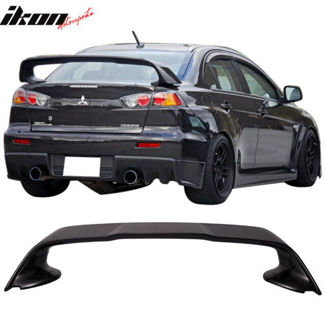 fits 08 17 mitsubishi lancer 10 evo x trunk spoiler painted tarmac black x42 for sale online ebay fits 08 17 mitsubishi lancer 10 evo x trunk spoiler painted tarmac black x42