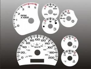 2003-2005-Chevrolet-Duramax-METRIC-KMH-Dash-Cluster-White-Face-Gauges