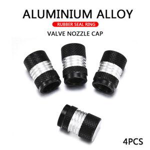 4PC-Car-Tire-Tyre-Rim-Wheel-Air-Valve-Stem-Dust-Black-Cap-Cover-Trim-Accessories
