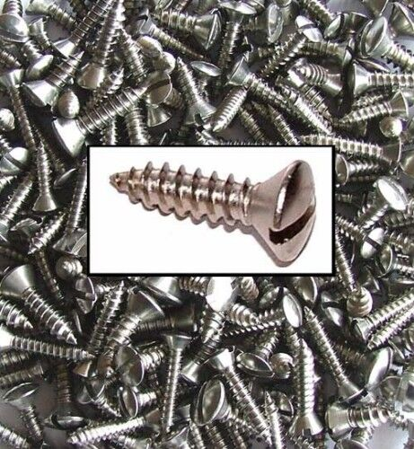 6g 8g Stainless Slotted Raised Countersunk Self Tapping Screws x200 10g