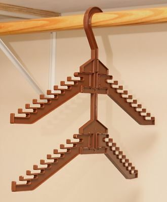 Tie rack hanger closet organizer  Consonan  brown hanging storage mountable