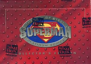Superman-Platinum-Collector-039-s-Edition-Widevision-Card-Box-DC-Comics