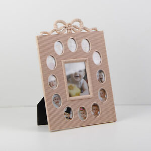 Baby Multi Photo Picture Frame My First Year 12 Month Slots