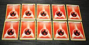 Lot 10 Cartes Pokemon Energie Energie Rouge Feu Fire 2013 Port Gratuit