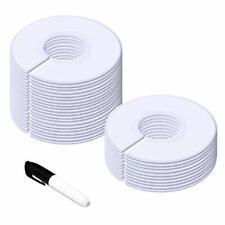 30 Pack White Round Clothing Size Closet Rack Dividers Hangers With 1 Bonus M