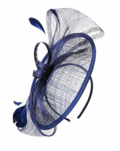 Large Sinamay Hat Fascinator Headband clip Weddings Ladies Day Races Royal Ascot
