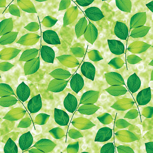 Image Is Loading Green Leaves Wallpaper  Removable Interior Decorating Peel Stick