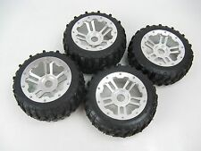 1/5 Rovan Gravel Tires with CNC Aluminum Rims - 2 Rear 170x80 & 2 Front 170x60