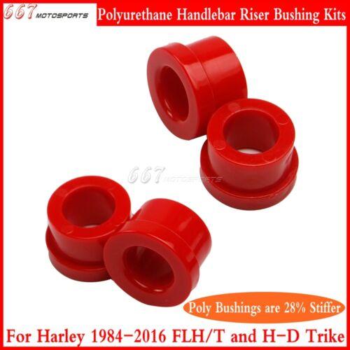 4Pcs Red Motorcycle Handlebar Riser Bushings Kits For Harley FLH//T 84-16 /& Trike