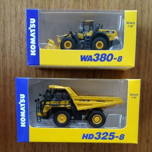 KOMATSU 1:87 HD325-8 WA380-8 EXCAVATOR dump truck 2 set japan Miniature New F//S