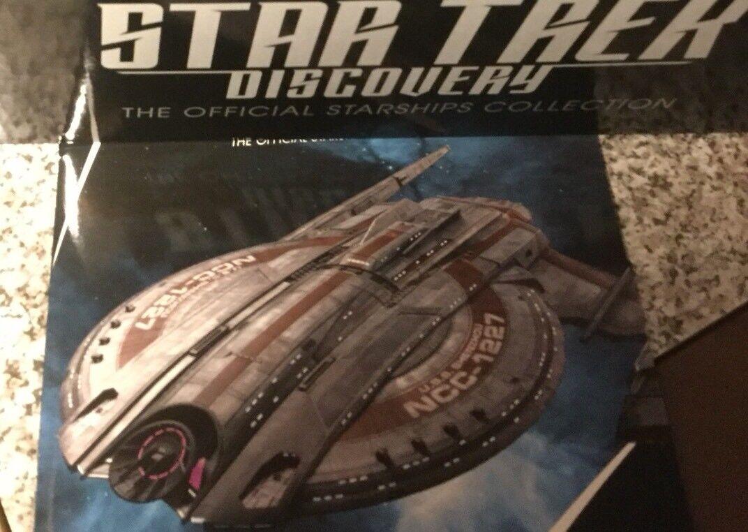 Eaglemoss Star TrekDie Cast Model Of U.S.S. Shenzhou NCC-1227,  1 & Magazine